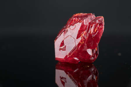 Precious crystal nugget. Mineral for the manufacture of jewelry and for industrial applications 写真素材 - 154994745