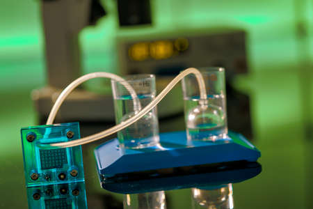 Hydrogen cell for generating alternative electricity 写真素材