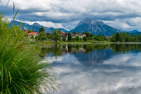 Lake in the mountains of the german alps 写真素材