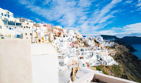 Panorama of the village of Oia on the Greek island of Santorini 写真素材