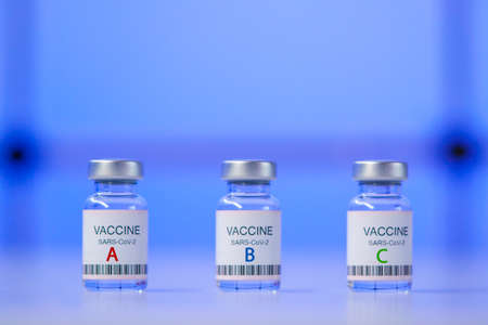 Choosing and comparing coronavirus vaccines from different manufacturers and types Фото со стока