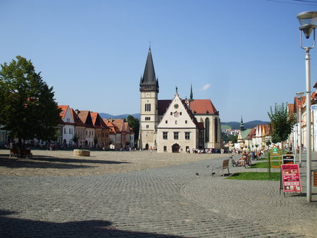 town square: Bardejov town square  town hall and basilica