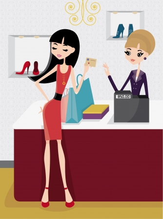 woman credit card: Pay with credit card