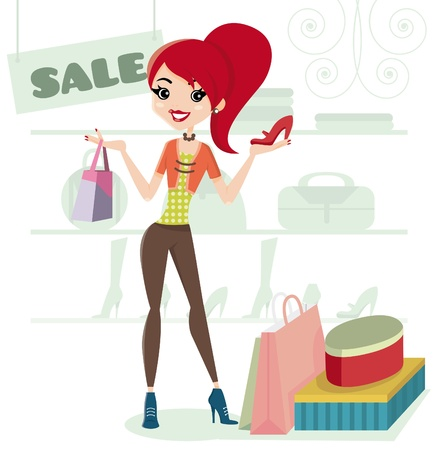 Sale  Let s go shopping  Vector