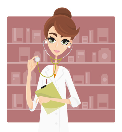 general store: Doctor or pharmacist with stethoscope
