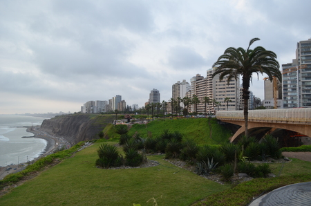 miraflores: Green parks of Miraflores, Lima, Peru Stock Photo