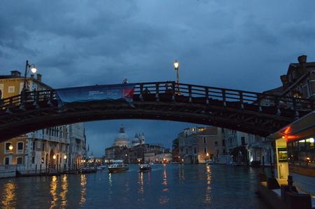 Grand Canal by twilight, Venice, Italy Banco de Imagens
