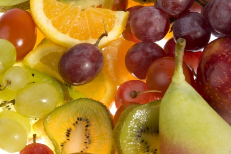 picture collage of mixed fruit