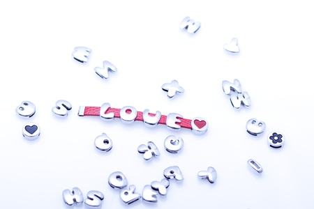 phrase several letters with love Stock Photo