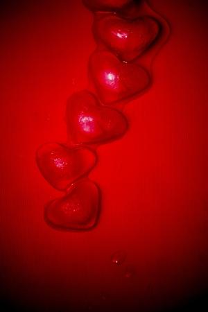 Ice hearts Stock Photo
