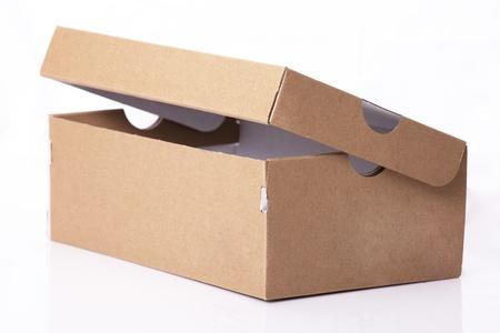 Empty cardboard box Stock Photo