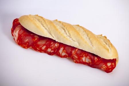 Chorizo sandwich Stock Photo
