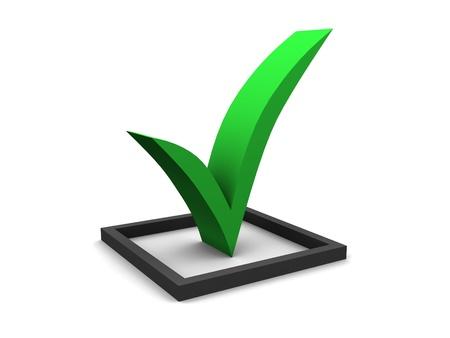 finalized: Green Checkmark Stock Photo