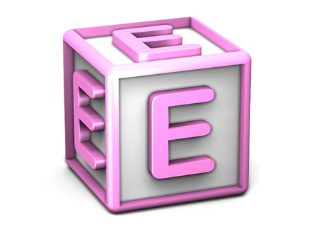 E Letter Cube photo