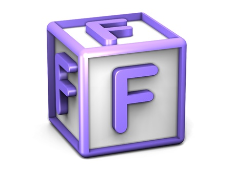 F Letter Cube Stock Photo