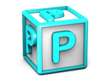 P Letter Cube photo