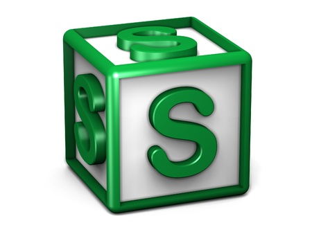 S Letter Cube photo