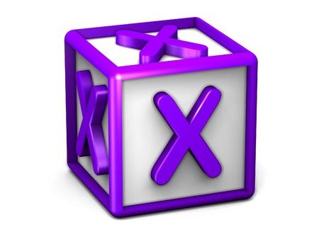 X Letter Cube photo