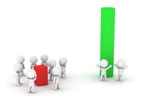 The 80-20 principle - 8 guys got 20 percent, and 2 guys got 80 percent Reklamní fotografie - 22352481