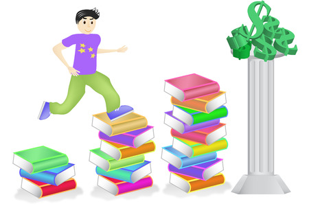perseverance: Education leads to wealth Illustration