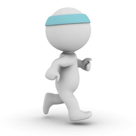 ジョギング 3 D キャラクター