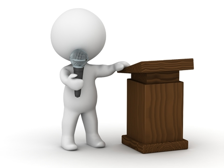 3D Character Public Speaker Reklamní fotografie - 30337298
