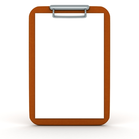 clipboard isolated: A 3D clipboard isolated on white