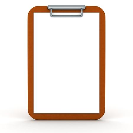A 3D clipboard isolated on white Reklamní fotografie - 30337474