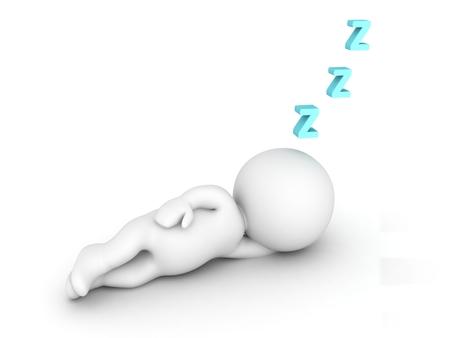 3 D の文字が眠っていると Z の文字