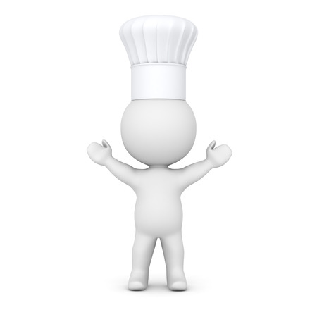 eats: 3D Character wearing Chef Hat