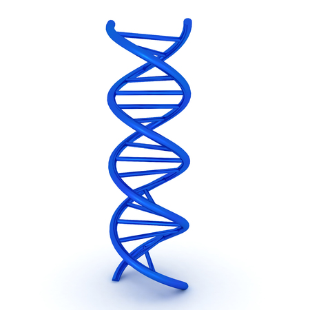 3D illustration of dna double helix. Image relating to medical research. Banco de Imagens