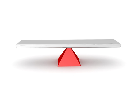 3D illustration of a seesaw. Isolated on white.