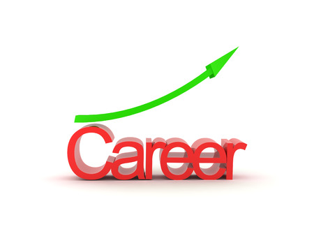 3D illustration depicting career growth. Isolated on white.  Stock Photo