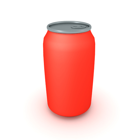 3D Rendering of a soda can. 3D Rendering isolated on white. Reklamní fotografie