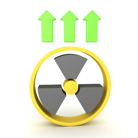 3D Concept image of nuclear power growth. 3D Rendering isolated on white. 写真素材