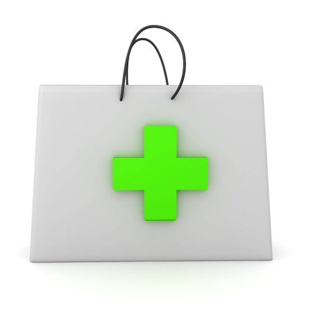 3D Rendering of medical first aid kit. 3D Rendering isolated on white. Stock fotó