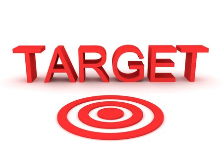 3D Rendering of target concept image. 3D Rendering isolated on white. Stok Fotoğraf