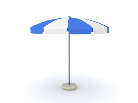 3D Rendering of a terrace umbrella. 3D Rendering isolated on white.