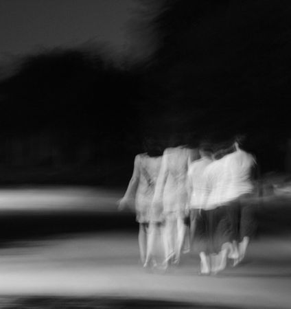 nocturnal: nocturnal steps - long exposure Stock Photo