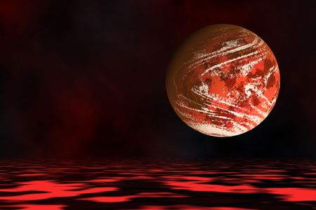 Abstract world with scene of an alien planet. Stock Photo - 4856315