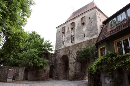 Old gate from Sighisoara medieval city.
