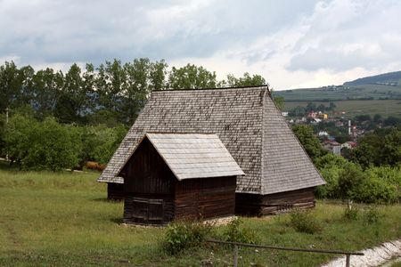 specific: Specific house from Maramures area in Romania Stock Photo