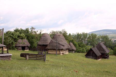 secular: Romanian secular village from Transylvania Stock Photo