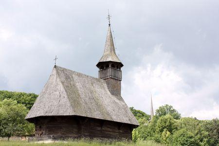 secular: Secular church of wood from Transylvania