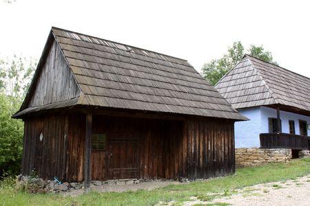 secular: Secular hangar and house from Transylvania Stock Photo