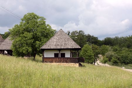 Old house from Romanian village Stock Photo