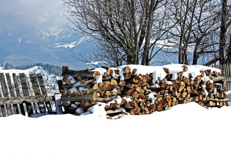 Stock of wood in an Romanian village. Stock Photo - 5003171
