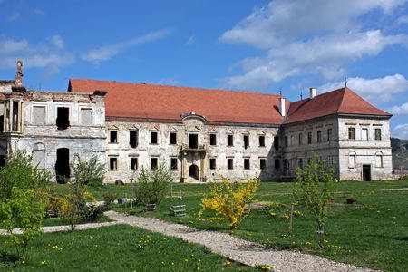 secular: Secular corroded building from Transylvania Stock Photo