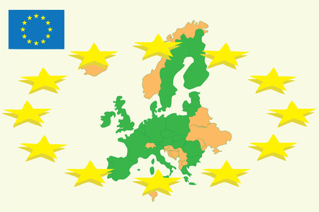 Political map of Europe and CE Stock Vector - 5098433