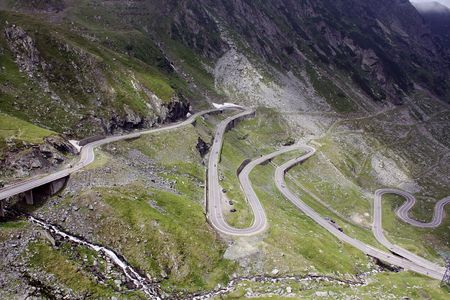 The risky road of Transfagarasan what is opened 2 month on the year photo